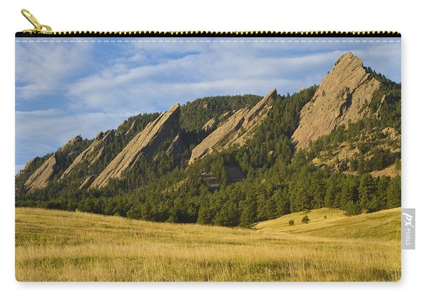 Flatiron Morning Light Boulder Colorado Carry-all Pouch