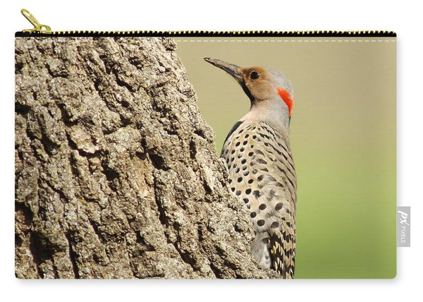 Flicker On Tree Trunk Carry-all Pouch