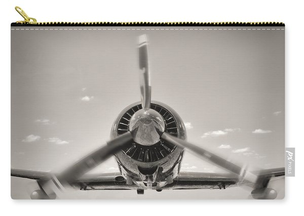 Flight In Black And White Carry-all Pouch