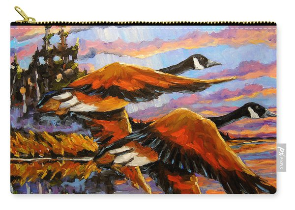 Flight Navigations Geese In  Motion Carry-all Pouch