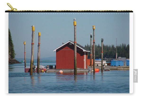 Floating Fish Shack Bay Of Fundy Nb Carry-all Pouch