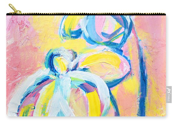 Abstract Flowers Silhouette No 15 Carry-all Pouch