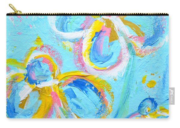 Abstract Flowers Silhouette No 16 Carry-all Pouch