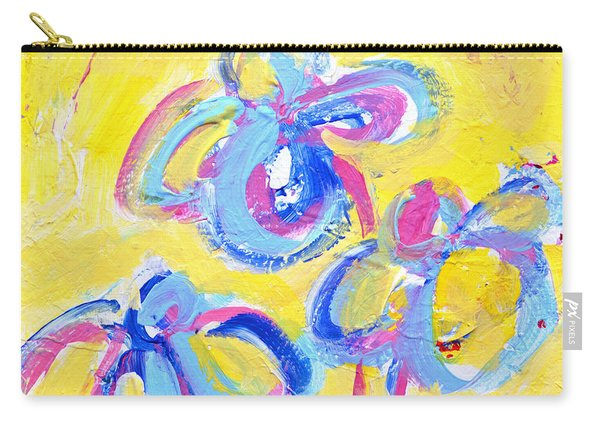 Abstract Flowers Silhouette No 13 Carry-all Pouch