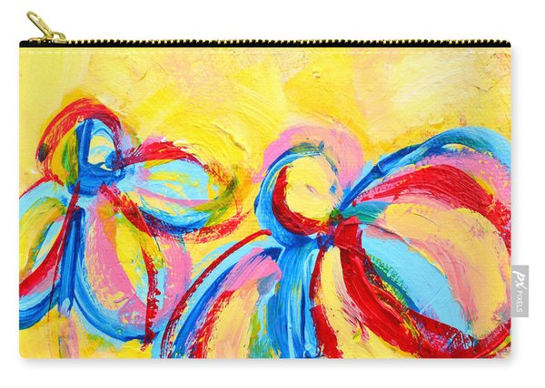 Abstract Flowers Silhouette No 12 Carry-all Pouch