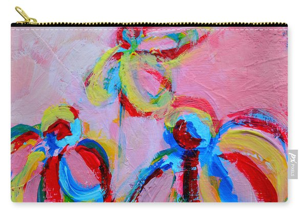 Abstract Flowers Silhouette No 11 Carry-all Pouch