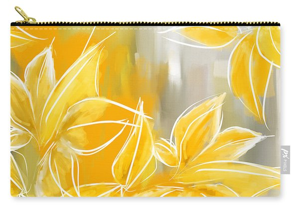 Floral Glow Carry-all Pouch