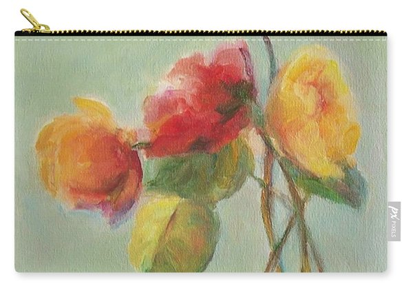 Floral Painting Carry-all Pouch