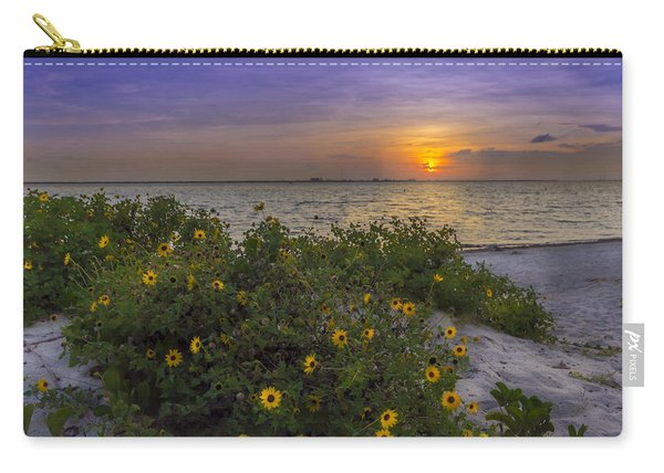 Floral Shore Carry-all Pouch
