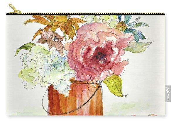 Flower Burst In Vase I Carry-all Pouch