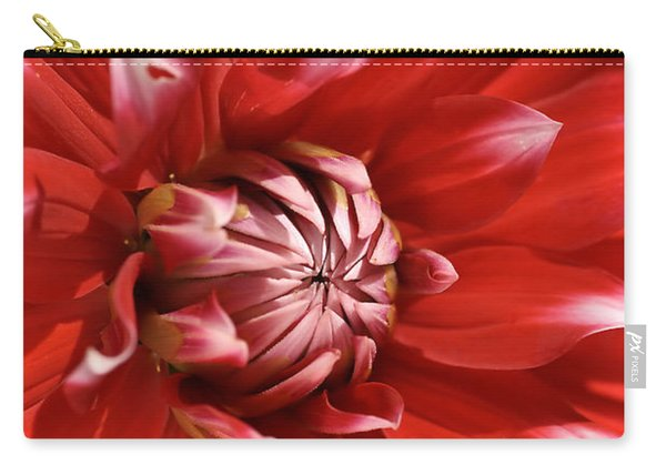Flower- Dahlia-red-white Carry-all Pouch