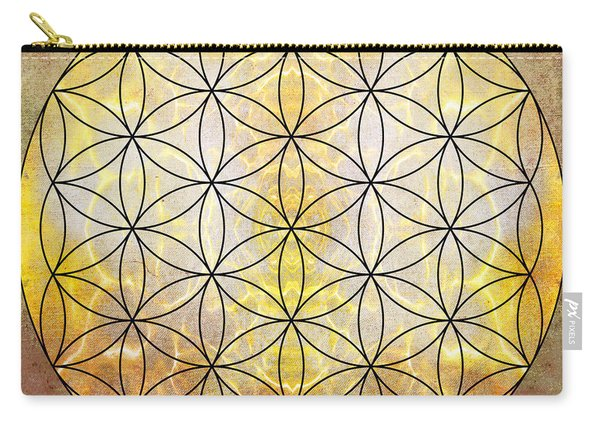 Flower Of Life Gold Carry-all Pouch