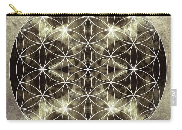 Flower Of Life Silver Carry-all Pouch