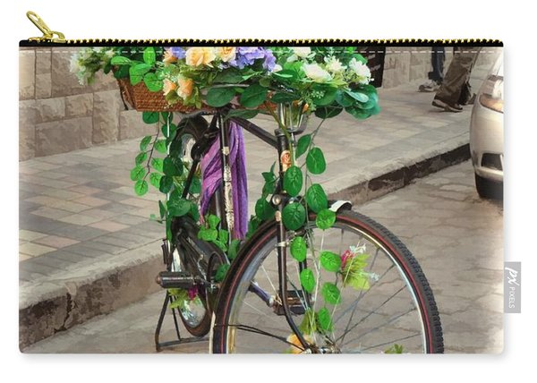 Flower Power Meets Pedal Power  Carry-all Pouch