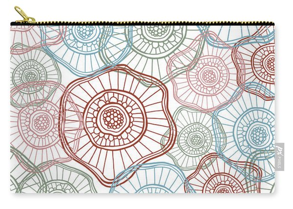 Flower Squiggle Carry-all Pouch