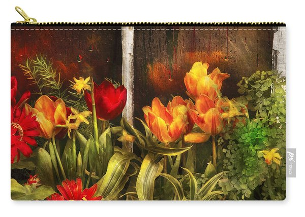 Flower - Tulip - Tulips In A Window Carry-all Pouch