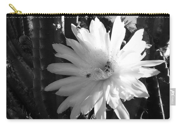 Flowering Cactus 1 Bw Carry-all Pouch