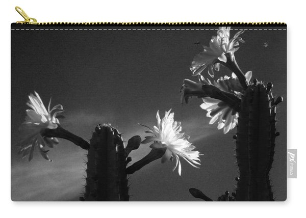 Flowering Cactus 4 Bw Carry-all Pouch