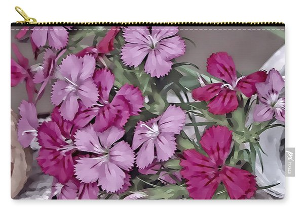 Flowers And Lace Carry-all Pouch