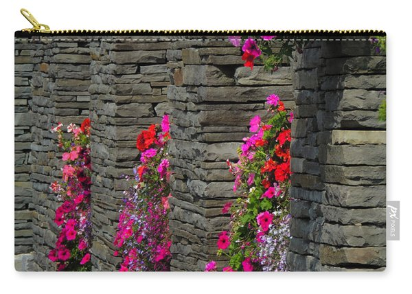 Flowers At Liscannor Rock Shop Carry-all Pouch
