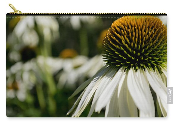 Carry-all Pouch featuring the photograph Flowers - Echinacea White Swan by Scott Lyons