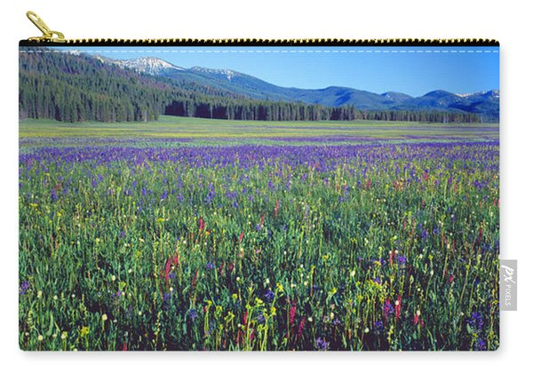 Flowers In A Field, Salmon, Idaho, Usa Carry-all Pouch