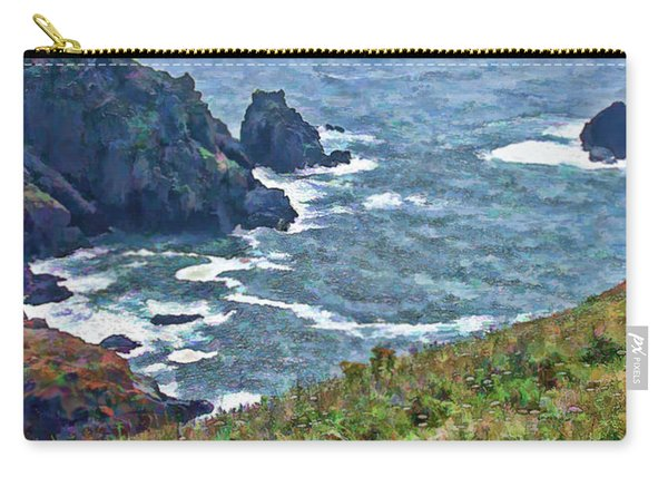 Flowers On Isle Of Guernsey Cliffs Carry-all Pouch