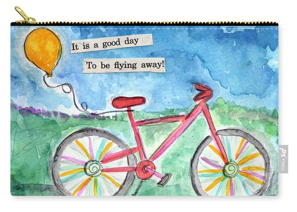 Flying Away- Bicycle And Balloon Painting Carry-all Pouch