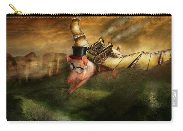 Flying Pig - Steampunk - The Flying Swine Carry-all Pouch
