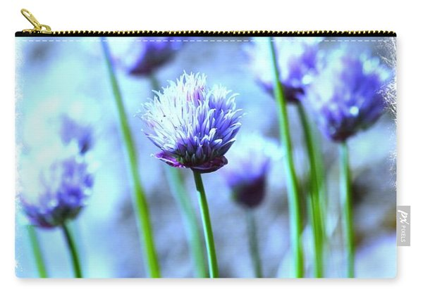 Focus On One Chive With Border Carry-all Pouch