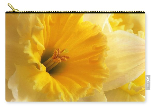 Focus On Spring - Daffodil Close Up Carry-all Pouch