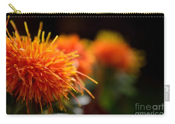 Carry-all Pouch featuring the photograph Focused Safflower by Scott Lyons