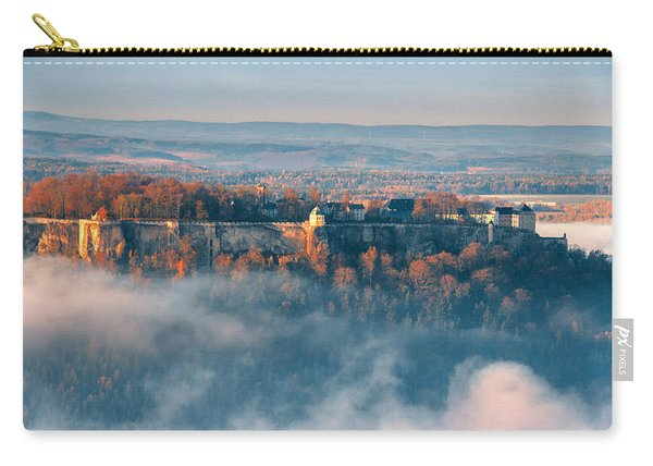 Fog Around The Fortress Koenigstein Carry-all Pouch