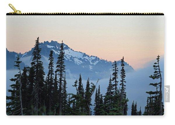 Mt. Rainier's Foggy Sunset Carry-all Pouch