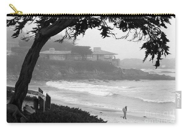 Foggy Day On Carmel Beach Carry-all Pouch