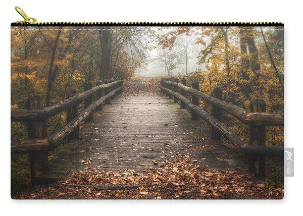 Foggy Lake Park Footbridge Carry-all Pouch