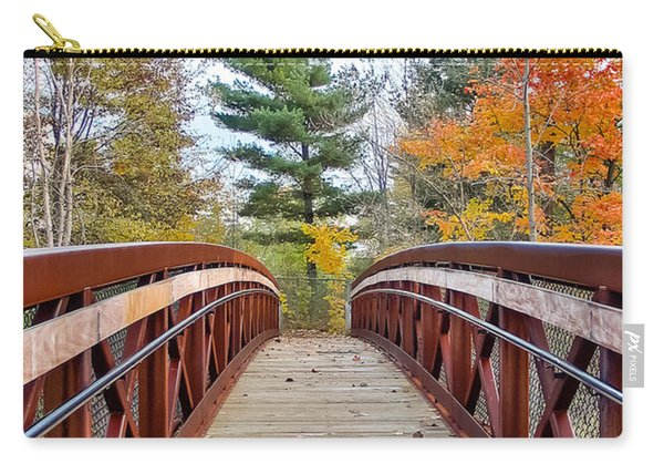 Foot Bridge In Fall Carry-all Pouch