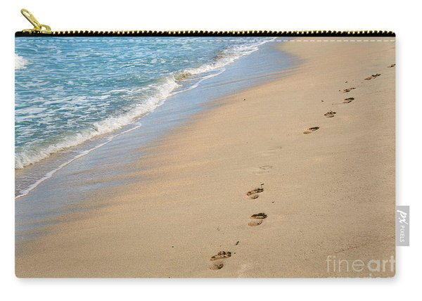 Footprints In The Sand Carry-all Pouch
