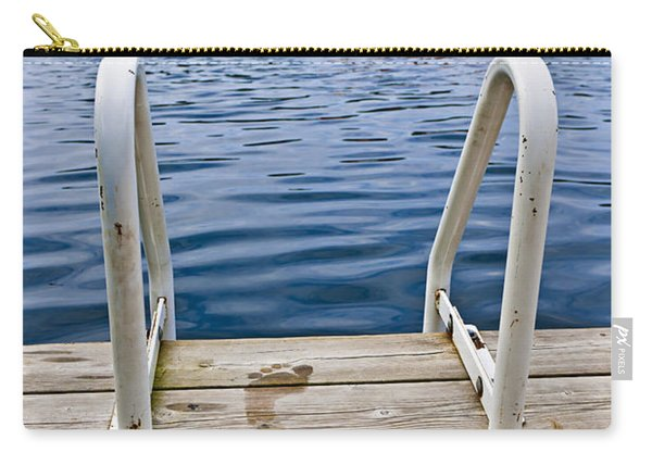 Footprints On Dock At Summer Lake Carry-all Pouch