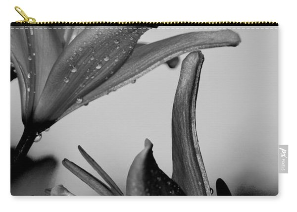 For The Love Of Lillies Bw Carry-all Pouch