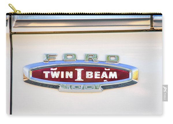 Ford 100 Twin I Beam Truck Emblem Carry-all Pouch