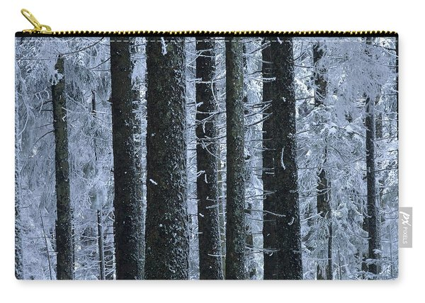 Forest In Winter Carry-all Pouch