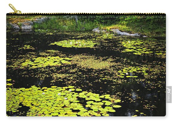 Forest Lake With Lily Pads Carry-all Pouch