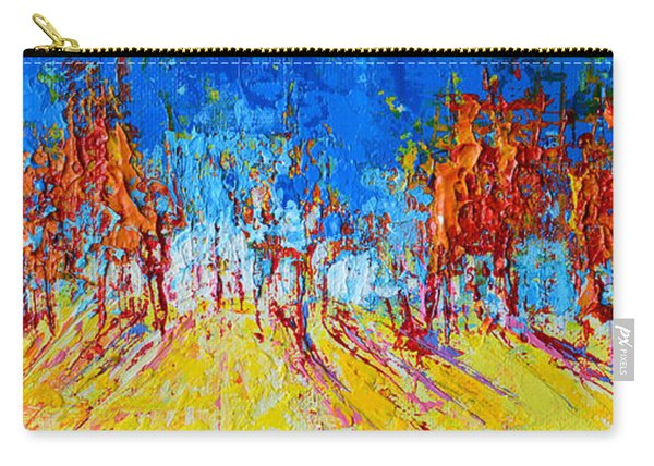 Tree Forest 1 Modern Impressionist Landscape Painting Palette Knife Work Carry-all Pouch