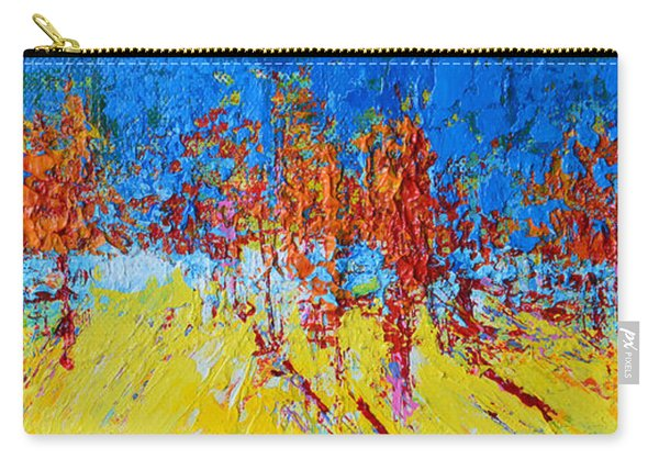 Tree Forest 2 Modern Impressionist Landscape Painting Palette Knife Work Carry-all Pouch