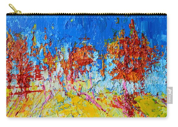 Tree Forest 3 Modern Impressionist Landscape Painting Palette Knife Work Carry-all Pouch