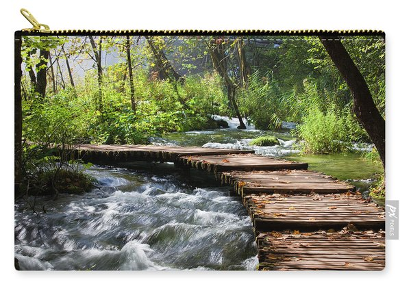 Forest Stream Scenery Carry-all Pouch