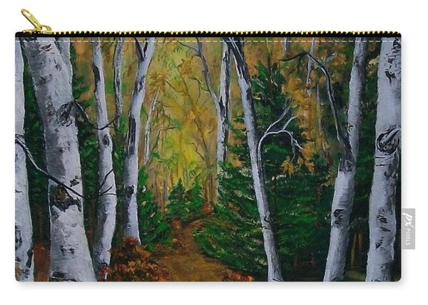 Birch Tree Forest Trail  Carry-all Pouch