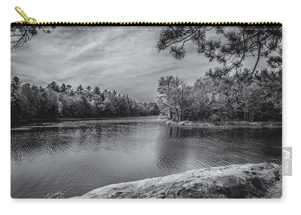Fork In River Bw Carry-all Pouch