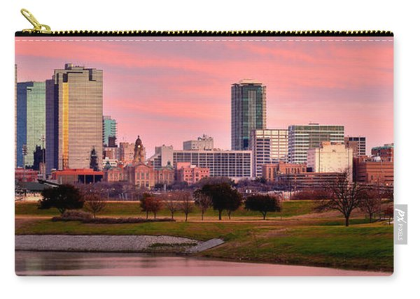 Fort Worth Skyline At Dusk Evening Color Evening Panorama Ft Worth Texas  Carry-all Pouch